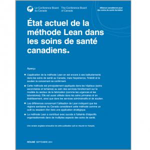 État actuel du Lean canada
